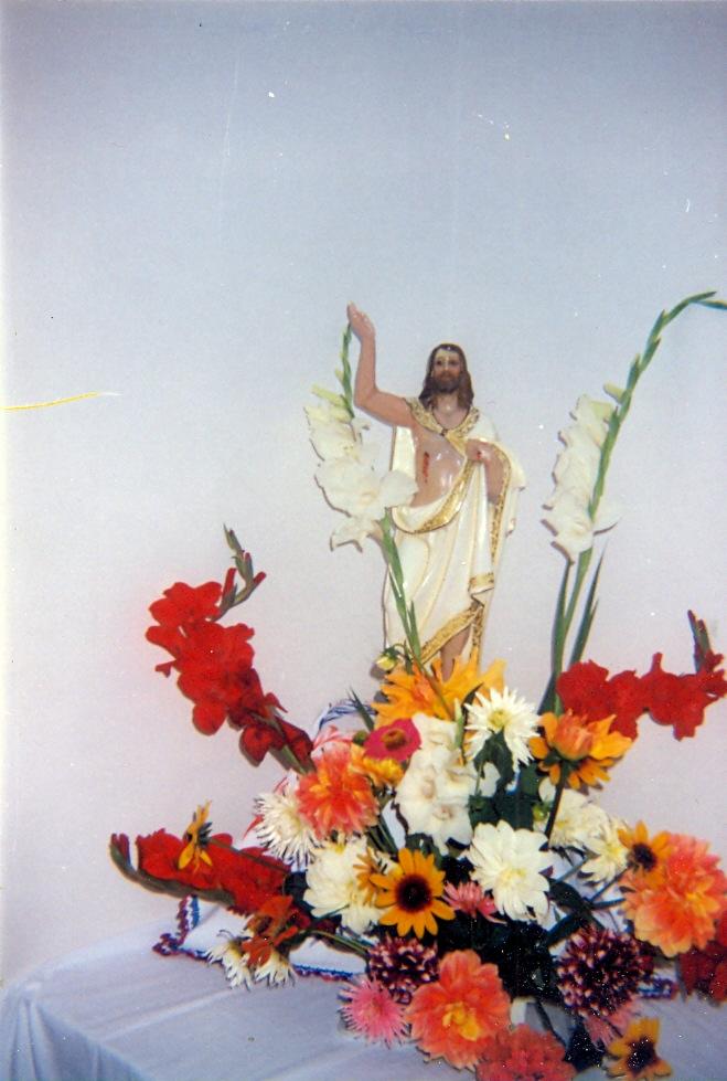 Skulptura uskrslog Krista u kapeli u Severovcima